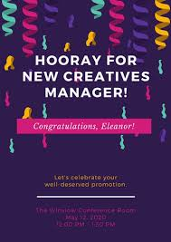 congratulation poster purple confetti congratulations poster templates by canva
