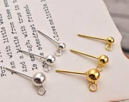 earring studs with loop ear stud with loop etsy