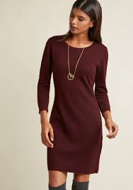 maroon sweater dress living on a layer sweater dress modcloth