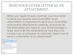 how to email a resume and cover letter attachment for sending via