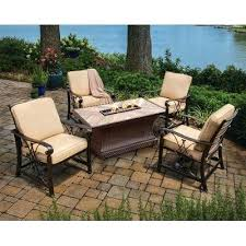 fire pit conversation set isle all weather wicker conversation set