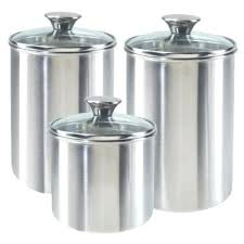 kitchen canisters stainless steel stainless steel canisters kitchen stainless steel baking details