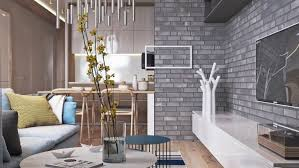 grey home interiors home designs eclectic living room exposed grey brick flat screen