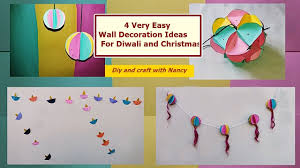 diy 4 very easy wall decoration ideas for diwali and christmas
