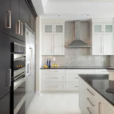 kitchen backsplash ideas with white cabinets houzz 75 beautiful kitchen with metallic backsplash pictures