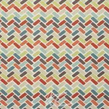 Orange Curtain Material Clarke And Clarke Cariba Maya Spice Curtain Fabric