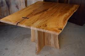Maple Table Spalted Curly Maple Table With Inlaid Ebony Butterfly Dumond U0027s