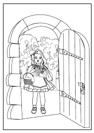 coloring pages red riding hood 7