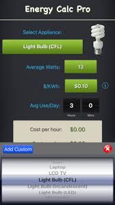 light bulb cost calculator energy calc pro appliance energy cost calculator on the app store