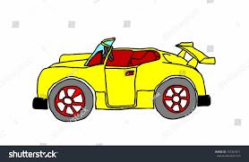 cartoon convertible car cartoon yellow convertible sports car stock vector 147361811