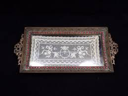 vanity trays for perfume crystal perfume tray home vanity decoration