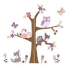 amazon com bedtime originals lavender woods wall appliques baby