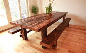 bench rustic dining room table set amazing rustic wood bench