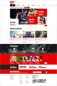 top tv channel joomla template
