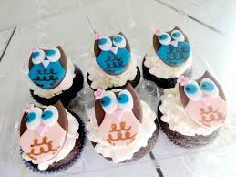 my pink little cake owl theme cookie favors cupcakes and