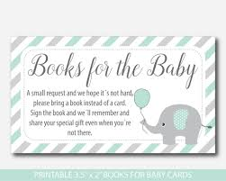 baby shower instead of a card bring a book mint baby shower bring a book instead of a card inserts mint