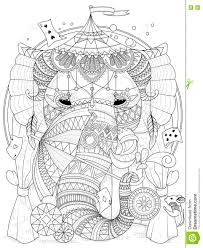 elephant coloring page stock illustration image 71295021