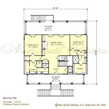 Upside Down Floor Plans New South Classics The Edisto New