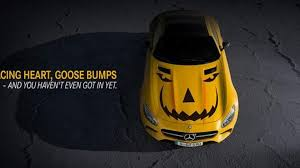 mercedes amg gt gets into the halloween spirit
