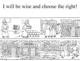 wise man foolish man coloring pages coloring home