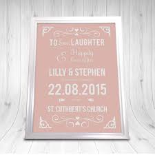 personalised wedding gifts personalised wedding gift print a4 coral the wedding