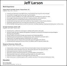 Example Of Teachers Resume by Teacher Resume Resumesamples Net
