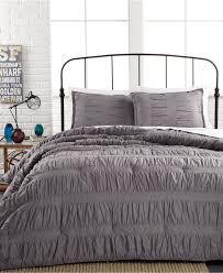 Macys Duvet Ruched Stripes Gray 3 Piece Comforter And Duvet Cover Sets Teen