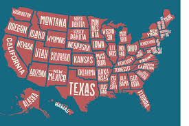 map of us states names can you guess the one letter that s not in any u s state name