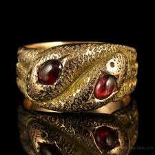 antiques atlas art deco gold snake ring cabochon garnet 1920