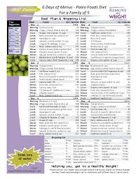 printable weight loss diet chart 8 best 6 day meal plans for weight loss images on pinterest paleo