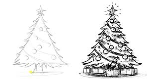 simple christmas tree drawing cute simple pastel colored christmas