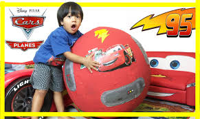 100 cars toys giant egg surprise opening disney pixar lightning