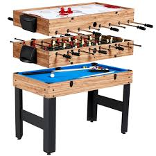 md sports 48 inch 3 in 1 combo game table 3 games with billiards