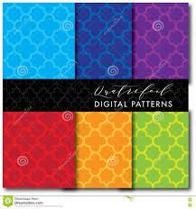 Mid Century Patterns 4 Seamless Mid Century Modern Digital Pattern Quatrefoil Bold
