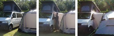 Camper Van Awnings How To Attach A Caravan Or Campervan Awning With Magnets