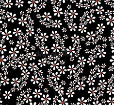 imagenes blancas en fondo negro fondo negro inconsútil del vector con las flores blancas finas en