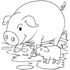 20 free printable pig coloring pages