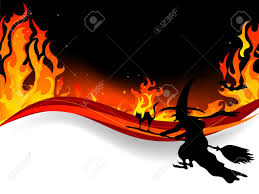 halloween border vector halloween witch fly in flames royalty free cliparts vectors and