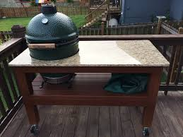 kamado joe grill table plans hello new member here just wanted to show off my egg table i built