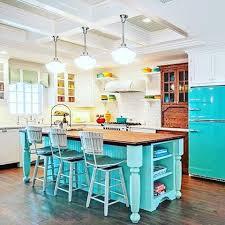 retro kitchen island stunning colored island plus a big chill retro fridge a
