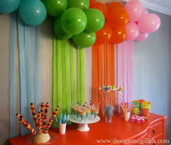 decorations for birthday party at home decorating ideas lovely at