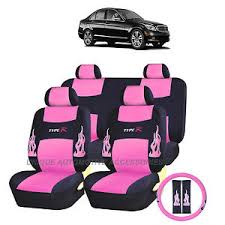 mercedes c class seat covers pink flames complete seat covers 13pc set for mercedes c
