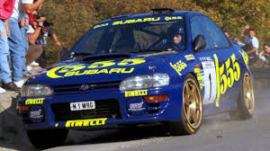 subaru rally car colin mcrae and the 1996 subaru impreza 555 rally car youtube