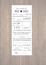 wedding advice card wedding mad libs diy printable marriage