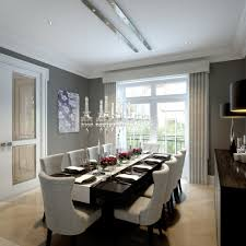 luxury dining sets dining room transitional with beige curtains