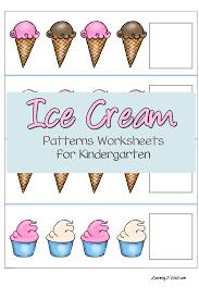 free ice cream patterns worksheets for kindergarten free