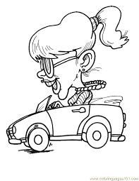 happy driving car coloring page free racing cars coloring