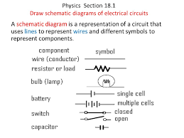 physics section 18 1 draw schematic diagrams of electrical