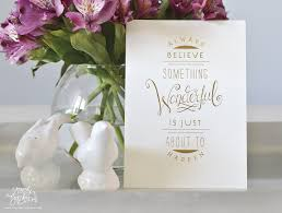 Wedding Invitations Long Island Always Believe Gold Foil Art Print Sincerely Jackie Long Island