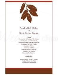 fall wedding programs printable fall leaf wedding invitation template